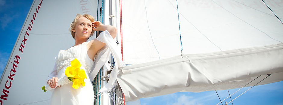 свадебная фотосессия на яхте